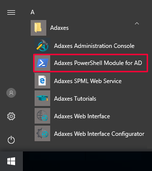 PowerShell Module for Active Directory shortcut