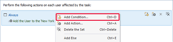 Scheduled Task: add condition