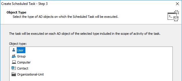 Object Type for Scheduled Task