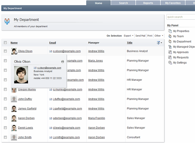 Active Directory Web Interface